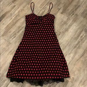 Retro Polka Dot Dress with Petticoat Sz M